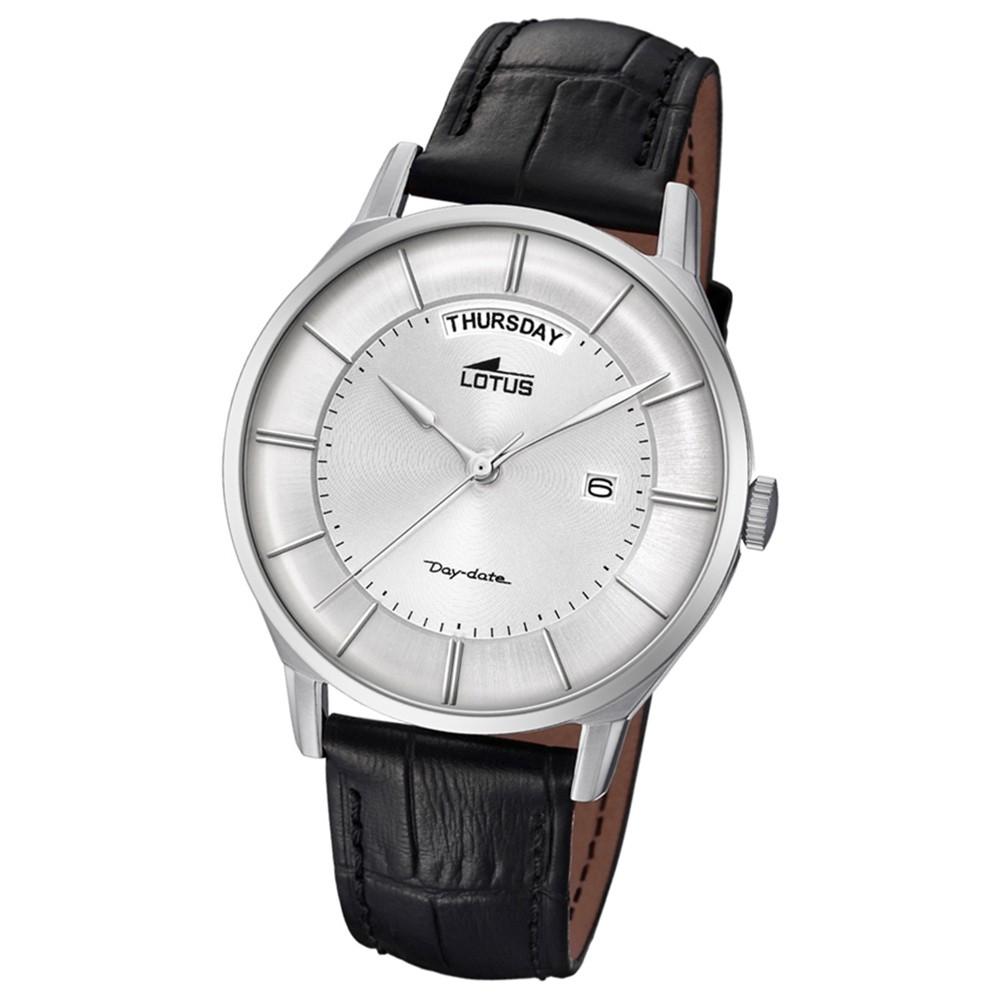 Lotus Herren-Armbanduhr Leder schwarz 18420/1 Quarz Retro UL18420/1