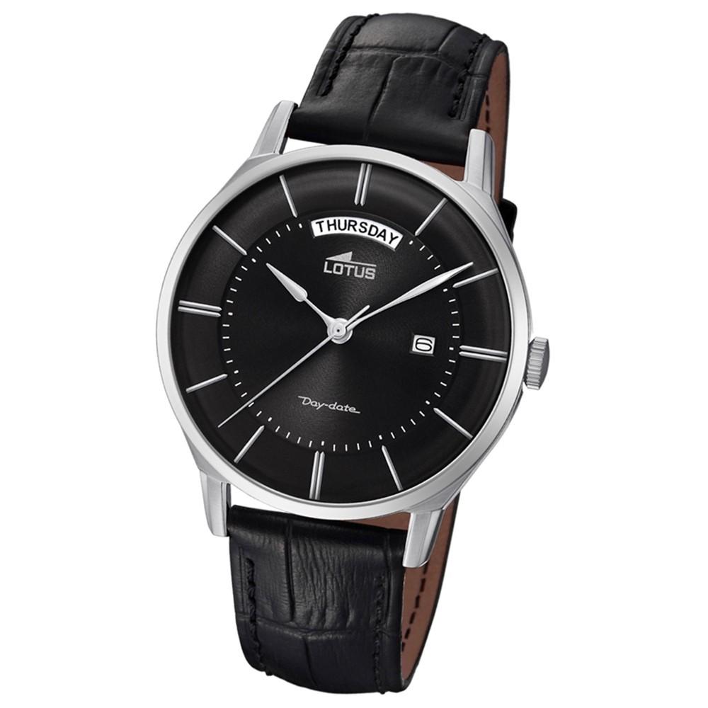 Lotus Herren-Armbanduhr Leder schwarz 18420/3 Quarz Retro UL18420/3