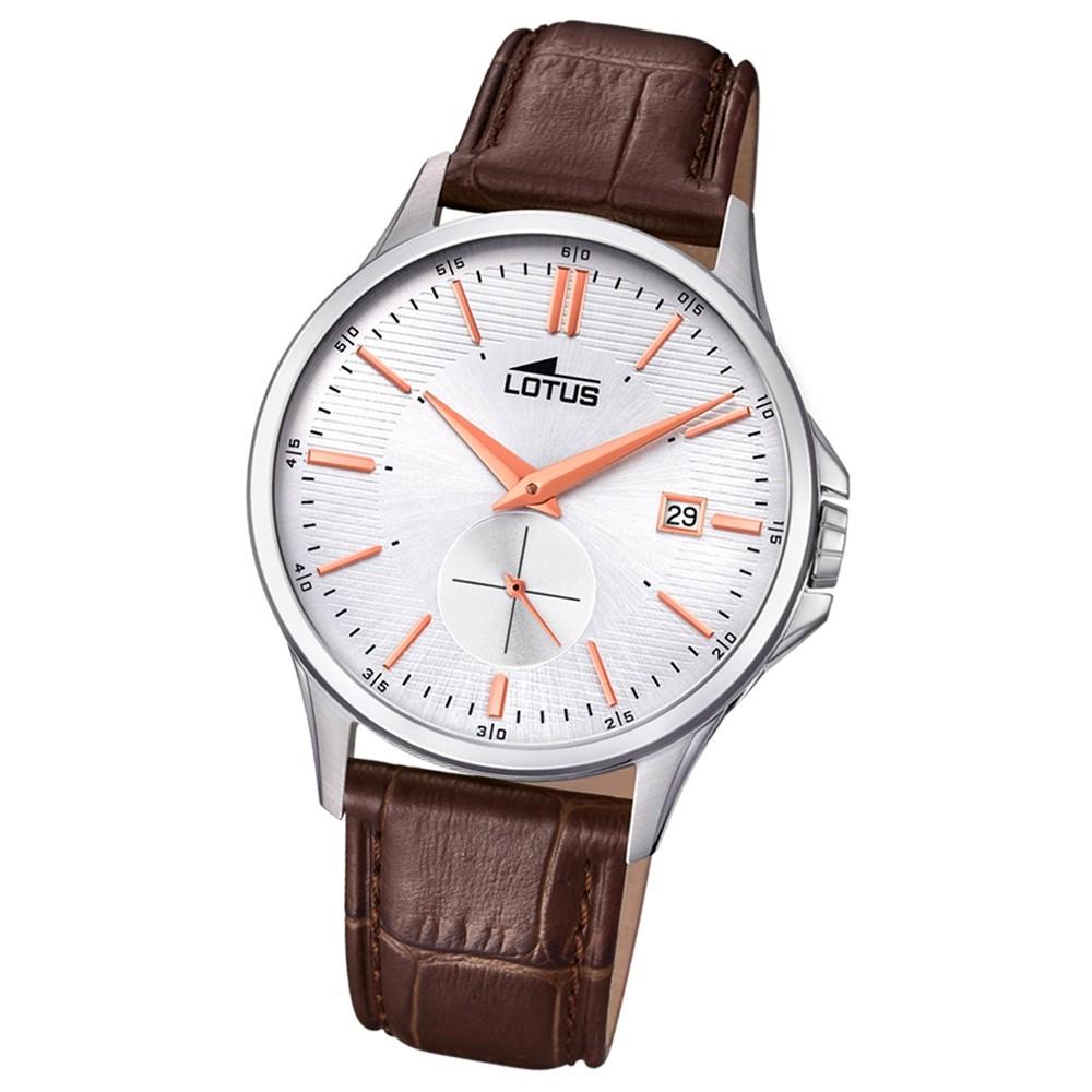 Lotus Herren-Armbanduhr Leder braun 18424/2 Quarz Retro UL18424/2