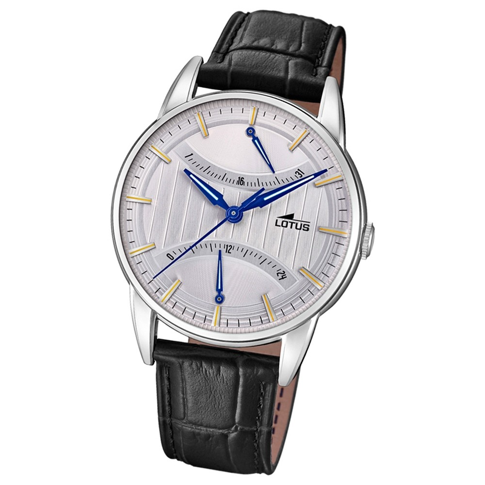 Lotus Herren-Armbanduhr Leder schwarz 18429/1 Quarz Retro UL18429/1