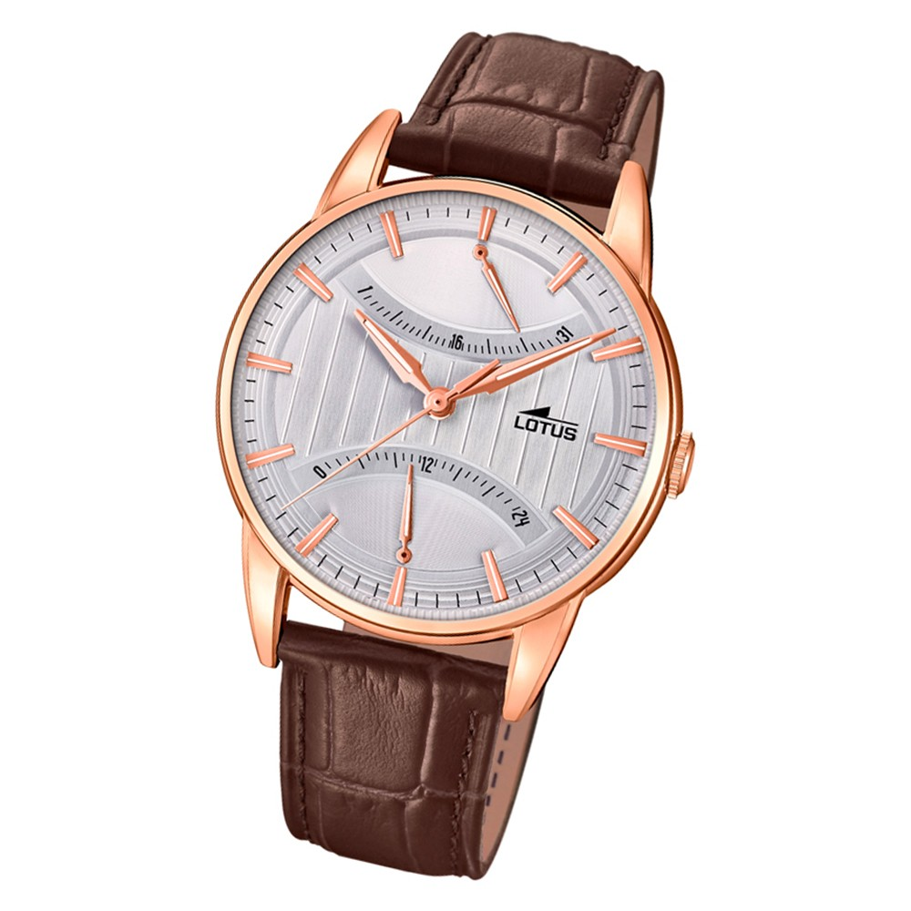 Lotus Herren-Armbanduhr Edelstahl braun 18430/1 Quarz Trendy UL18430/1