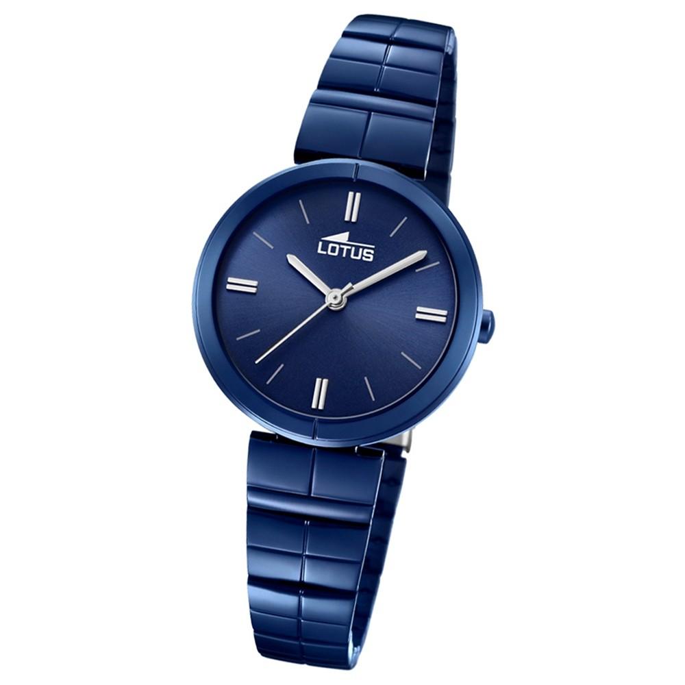 Lotus Damen-Armbanduhr Edelstahl blau 18432/1 Quarz Trendy UL18432/1