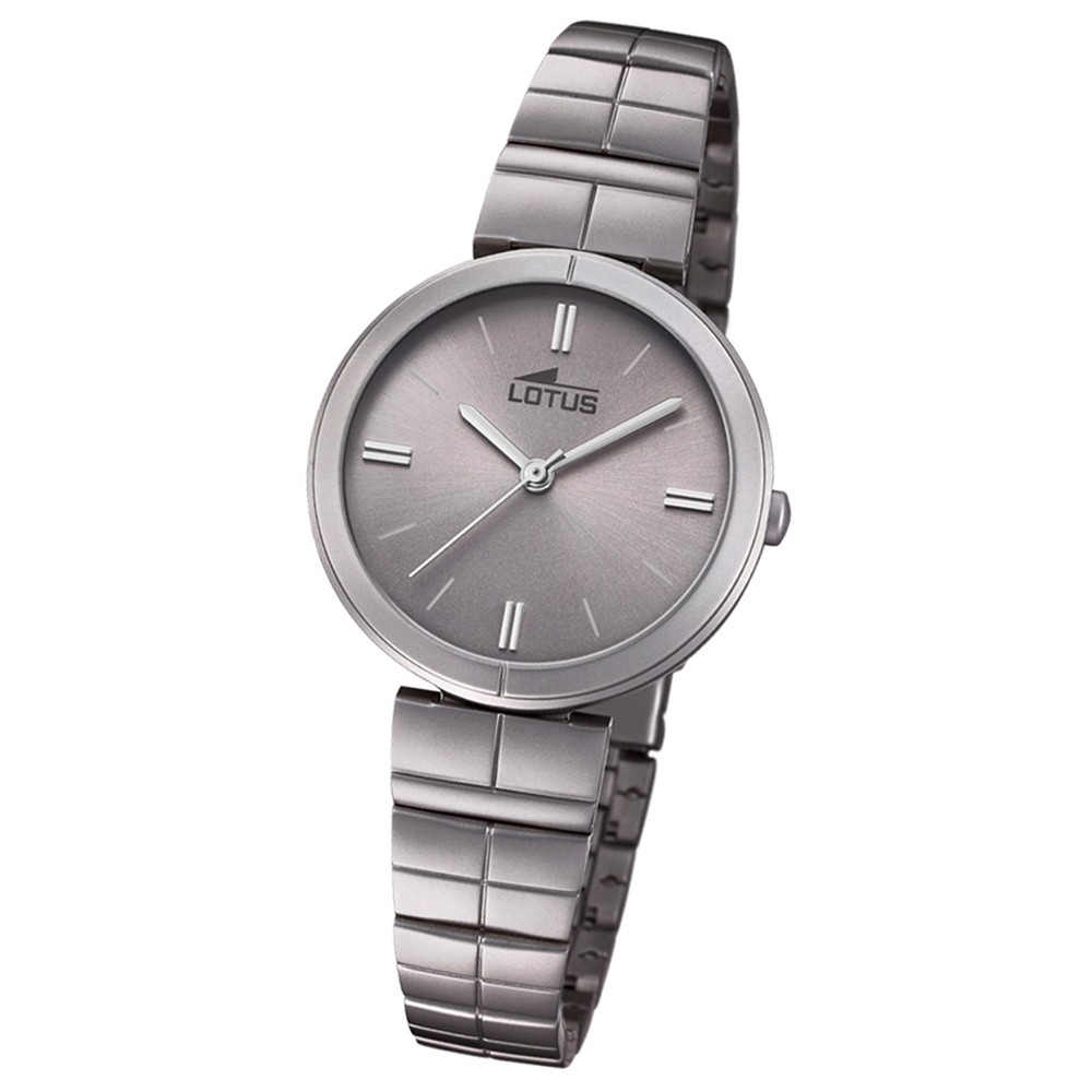 Lotus Damen-Armbanduhr Edelstahl grau 18433/1 Quarz Trendy UL18433/1