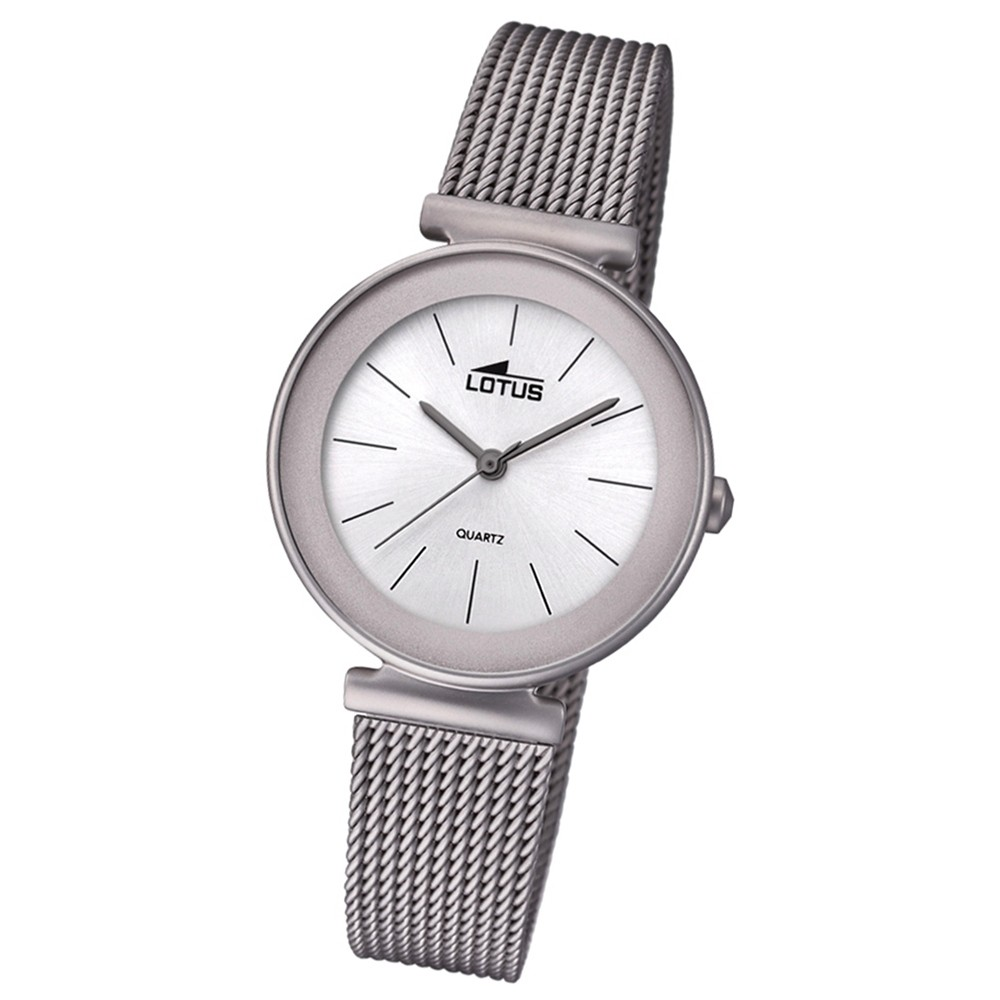 Lotus Damen-Armbanduhr Edelstahl grau 18435/1 Quarz Trendy UL18435/1