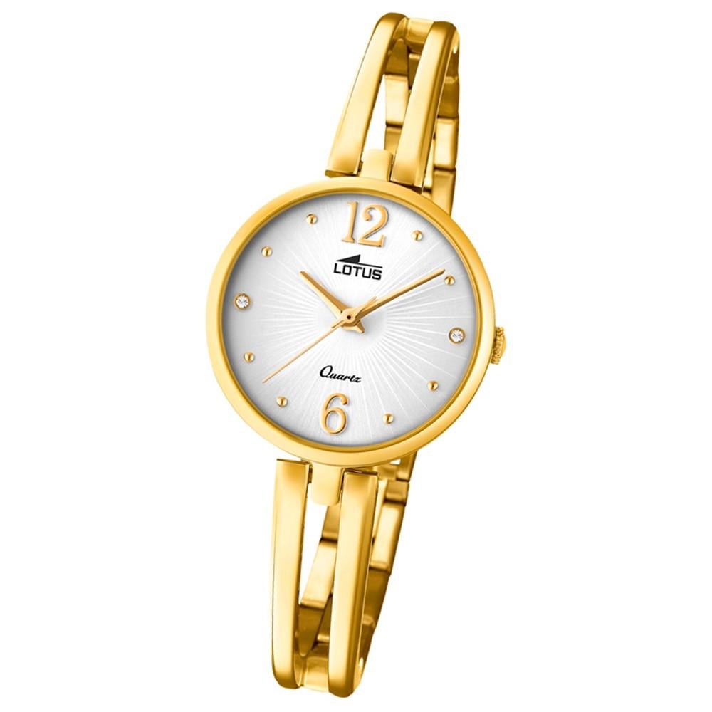 Lotus Damen-Armbanduhr Edelstahl gold 18443/1 Quarz Trendy UL18443/1