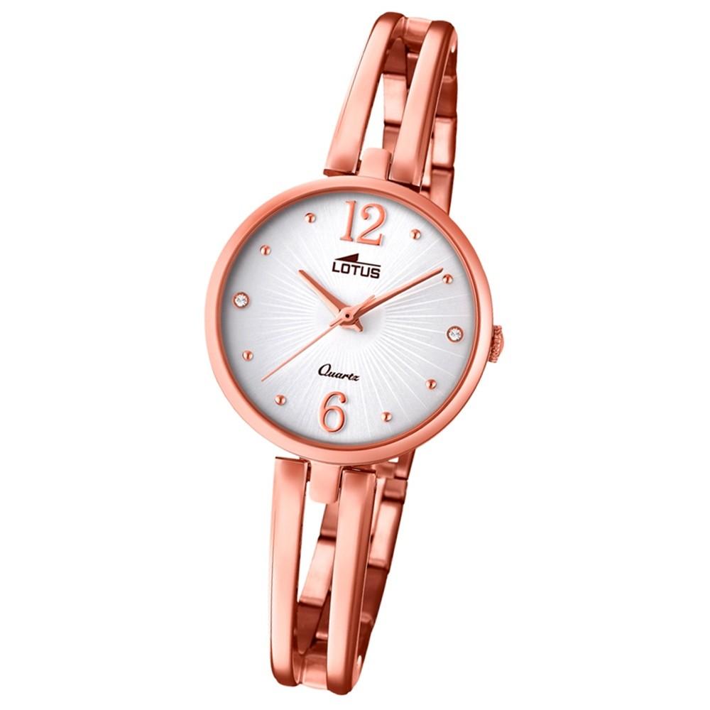 Lotus Damen-Armbanduhr Edelstahl roségold 18444/1 Quarz Trendy UL18444/1