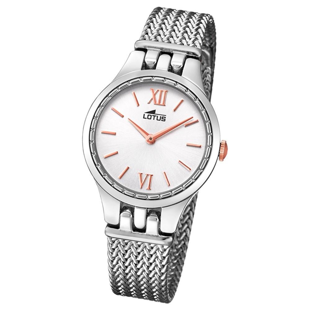 Lotus Damen-Armbanduhr Edelstahl silber 18446/1 Quarz Bliss UL18446/1