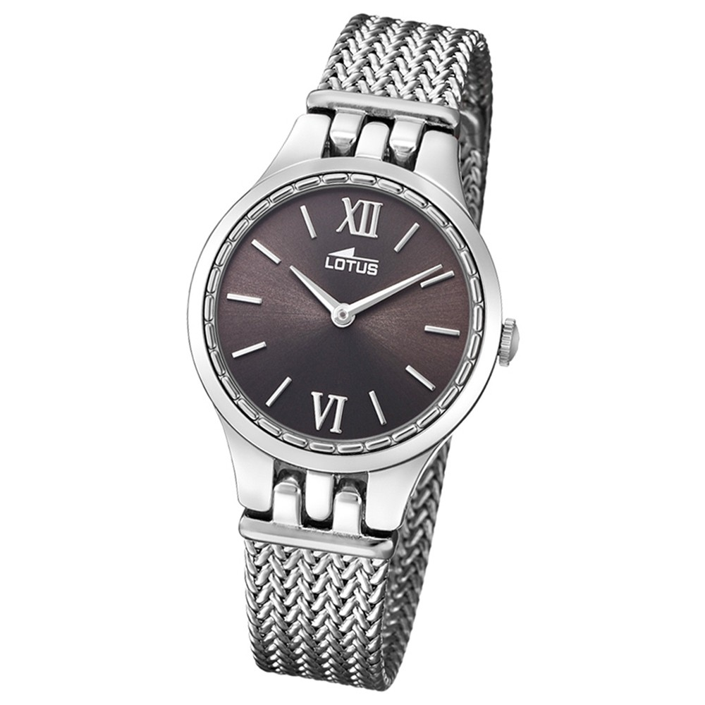 Lotus Damen-Armbanduhr Edelstahl silber 18446/2 Quarz Bliss UL18446/2
