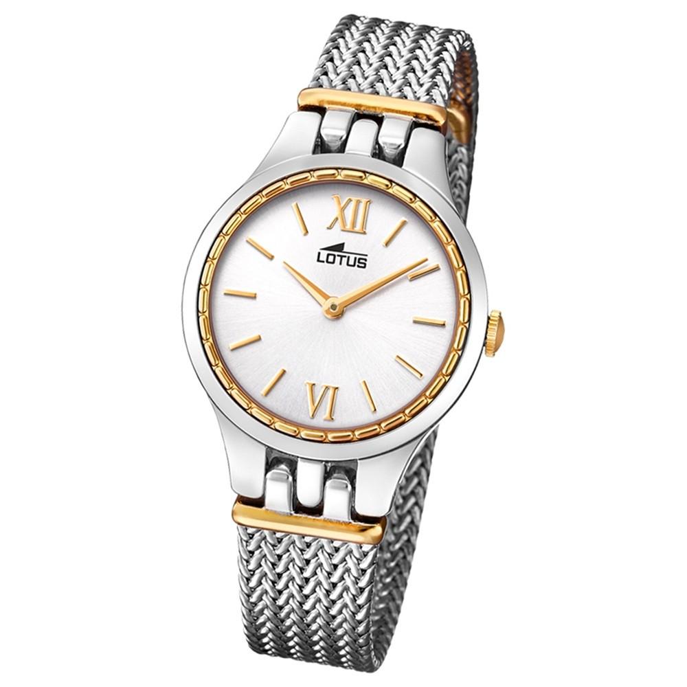 Lotus Damen-Armbanduhr Edelstahl silber gold 18447/1 Quarz Bliss UL18447/1