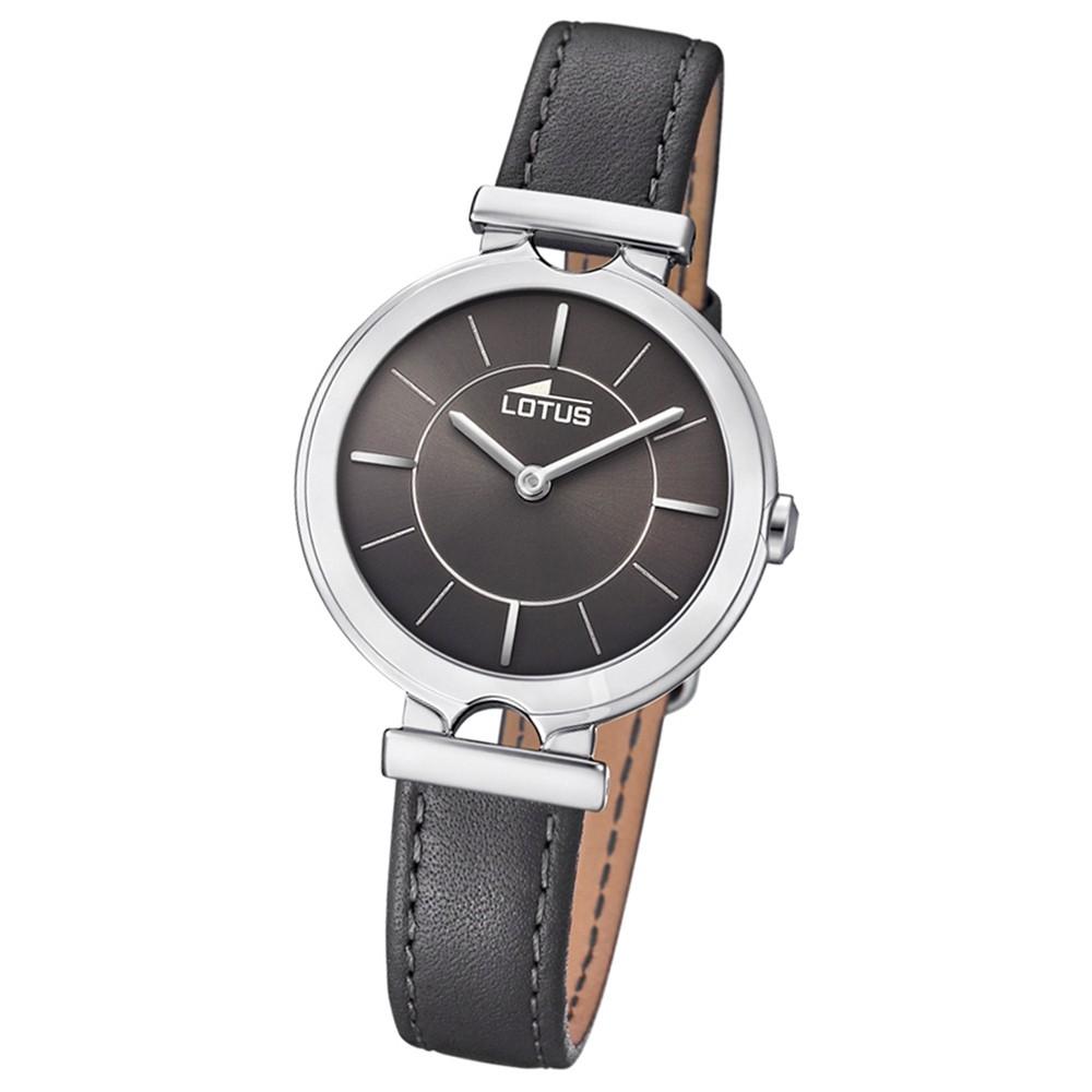 Lotus Damen-Armbanduhr Leder grau 18451/2 Quarz Bliss UL18451/2