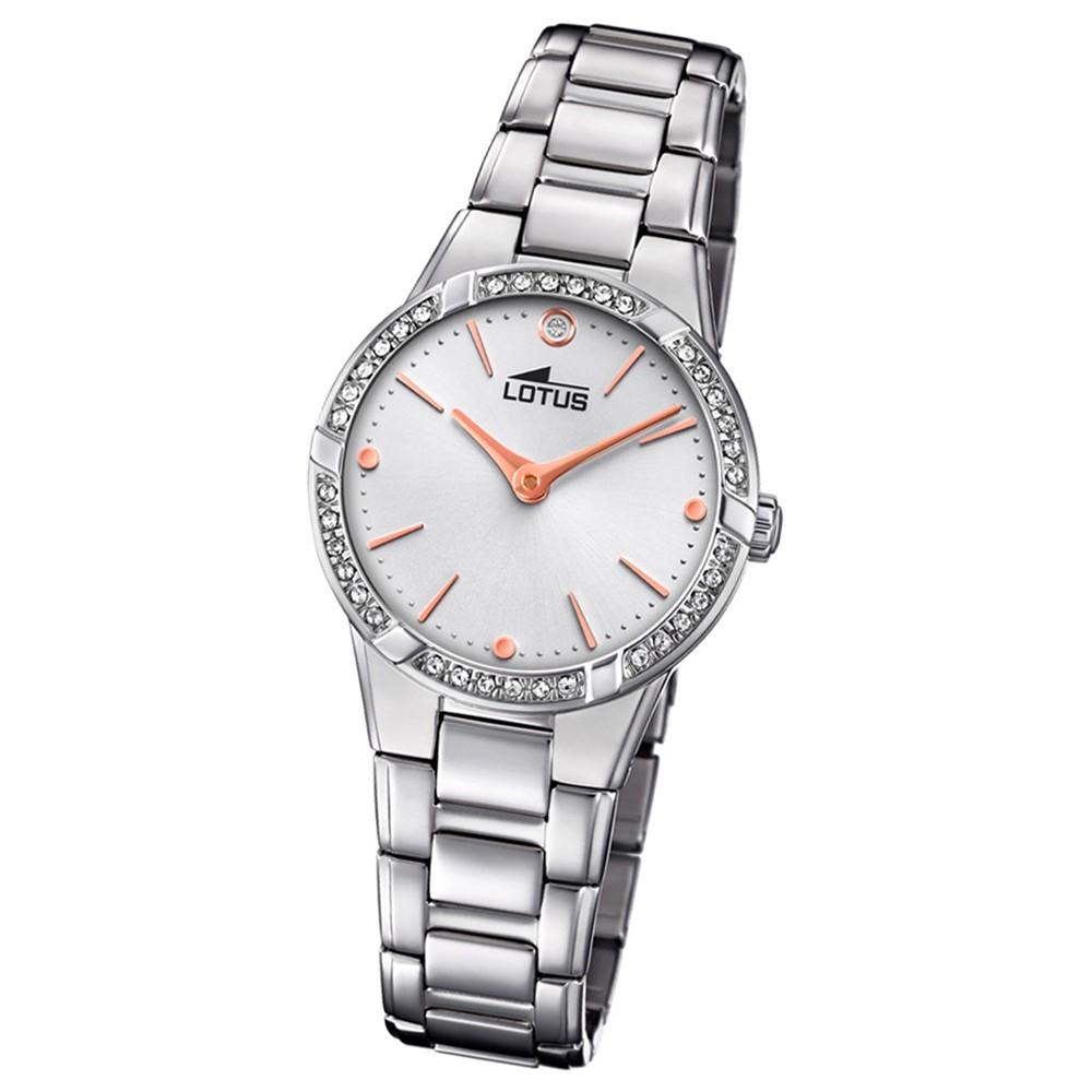 Lotus Damen-Armbanduhr Edelstahl silber 18454/1 Quarz Bliss UL18454/1