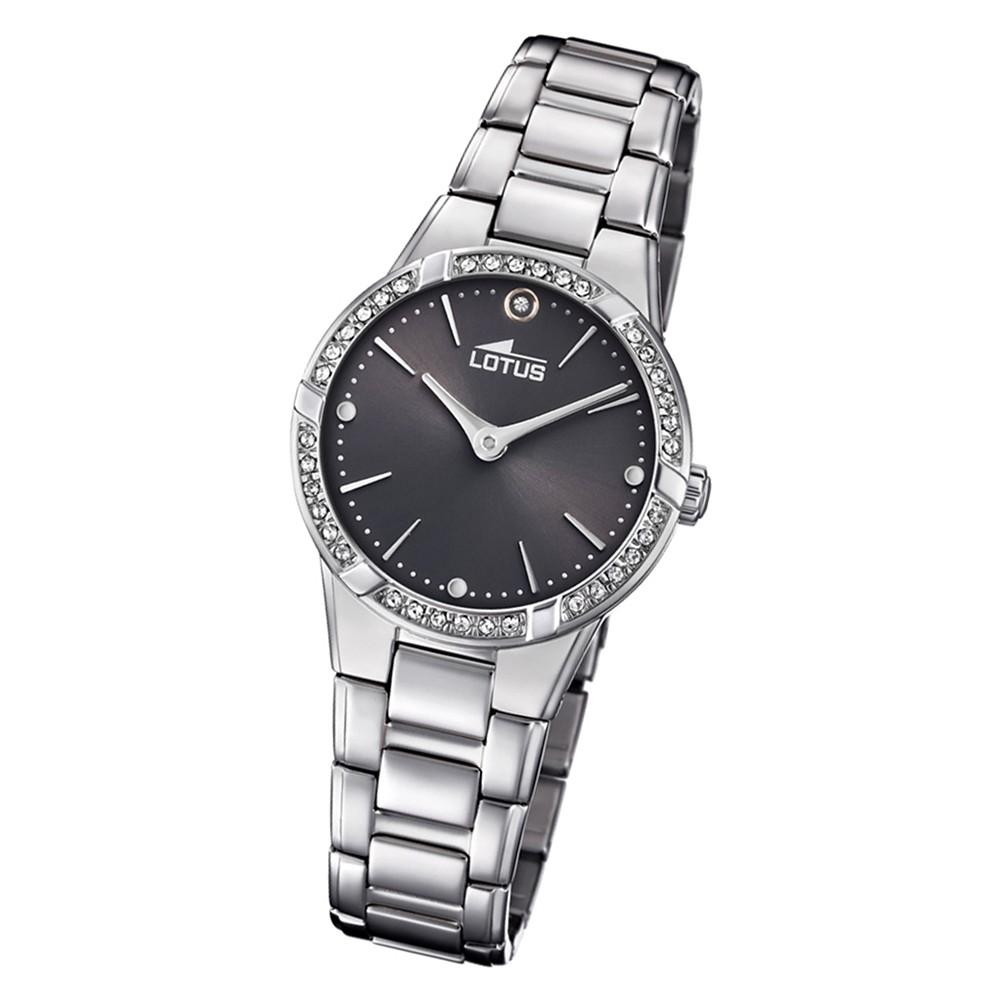 Lotus Damen-Armbanduhr Edelstahl silber 18454/2 Quarz Bliss UL18454/2