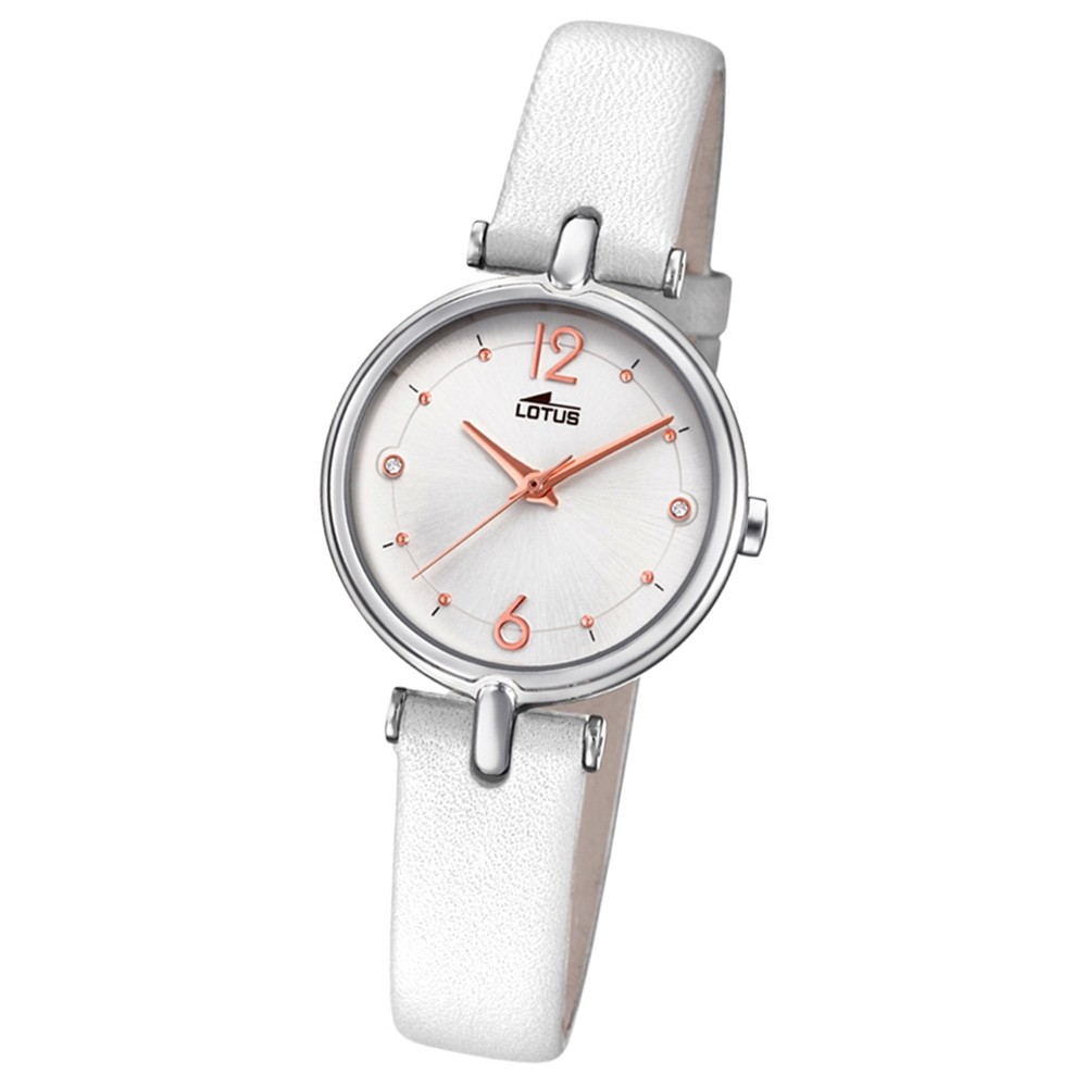 Lotus Damen-Armbanduhr Leder weiß 18458/1 Quarz Bliss UL18458/1