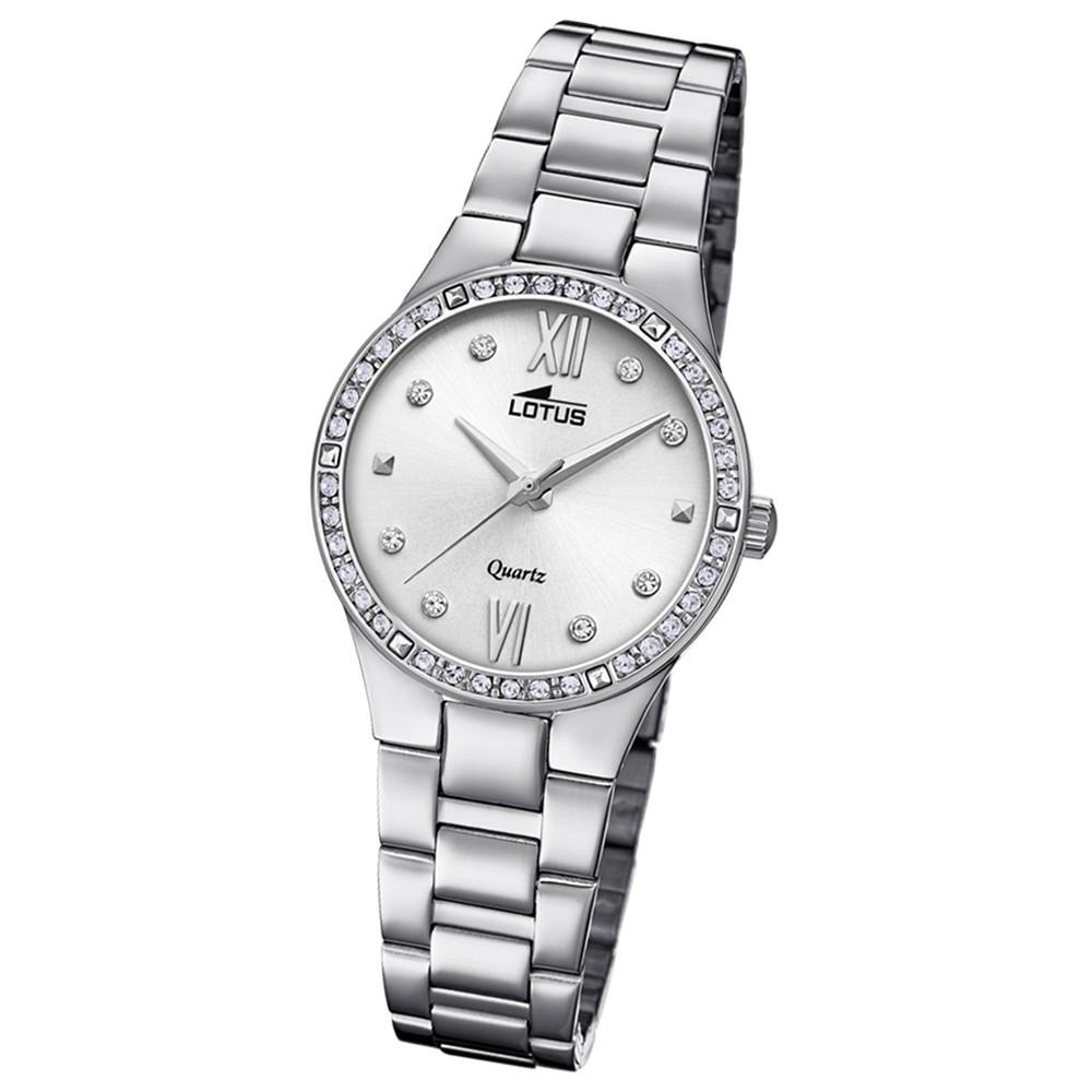 Lotus Damen-Armbanduhr Edelstahl silber 18460/1 Quarz Bliss UL18460/1