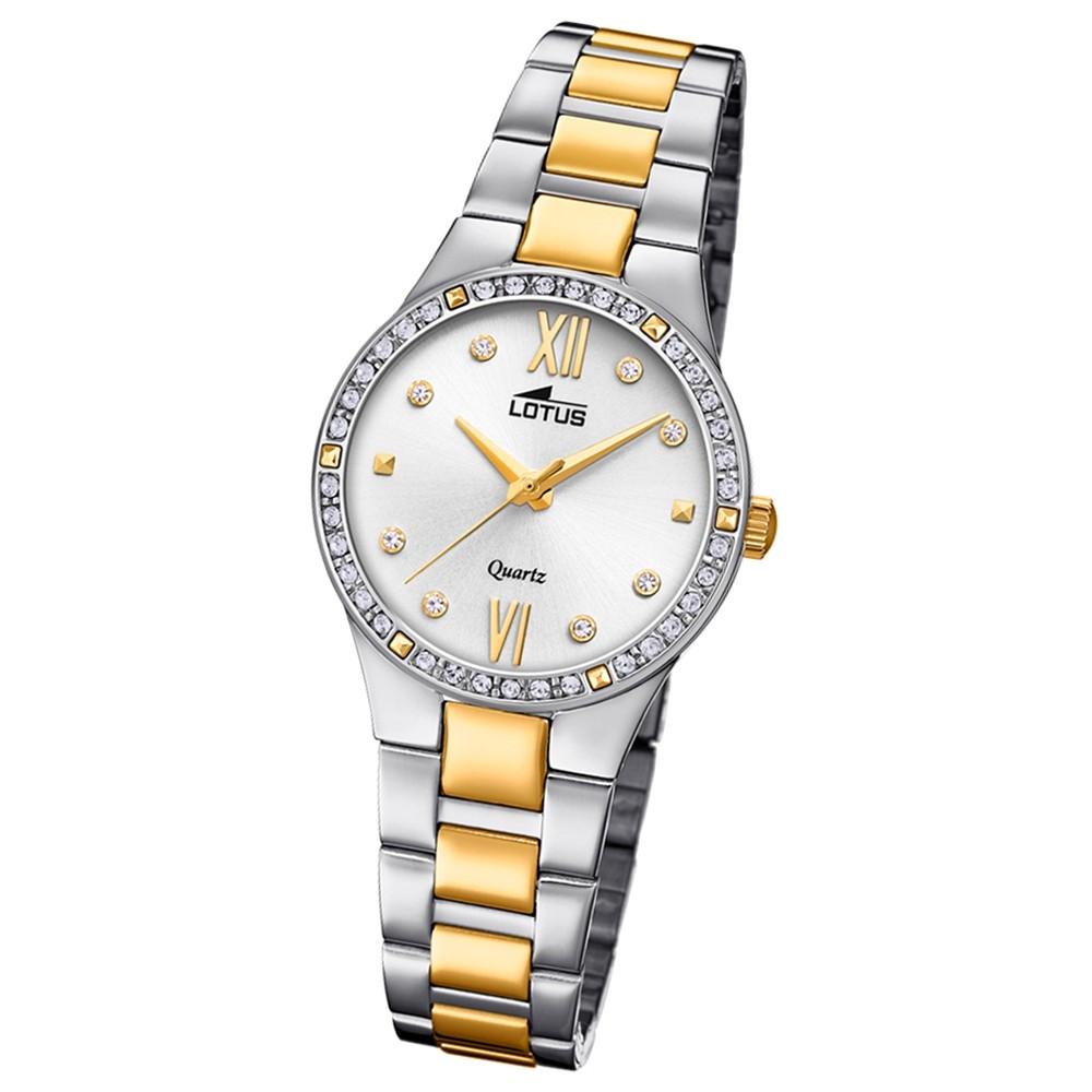 Lotus Damen-Armbanduhr Edelstahl silber gold 18461/1 Quarz Bliss UL18461/1
