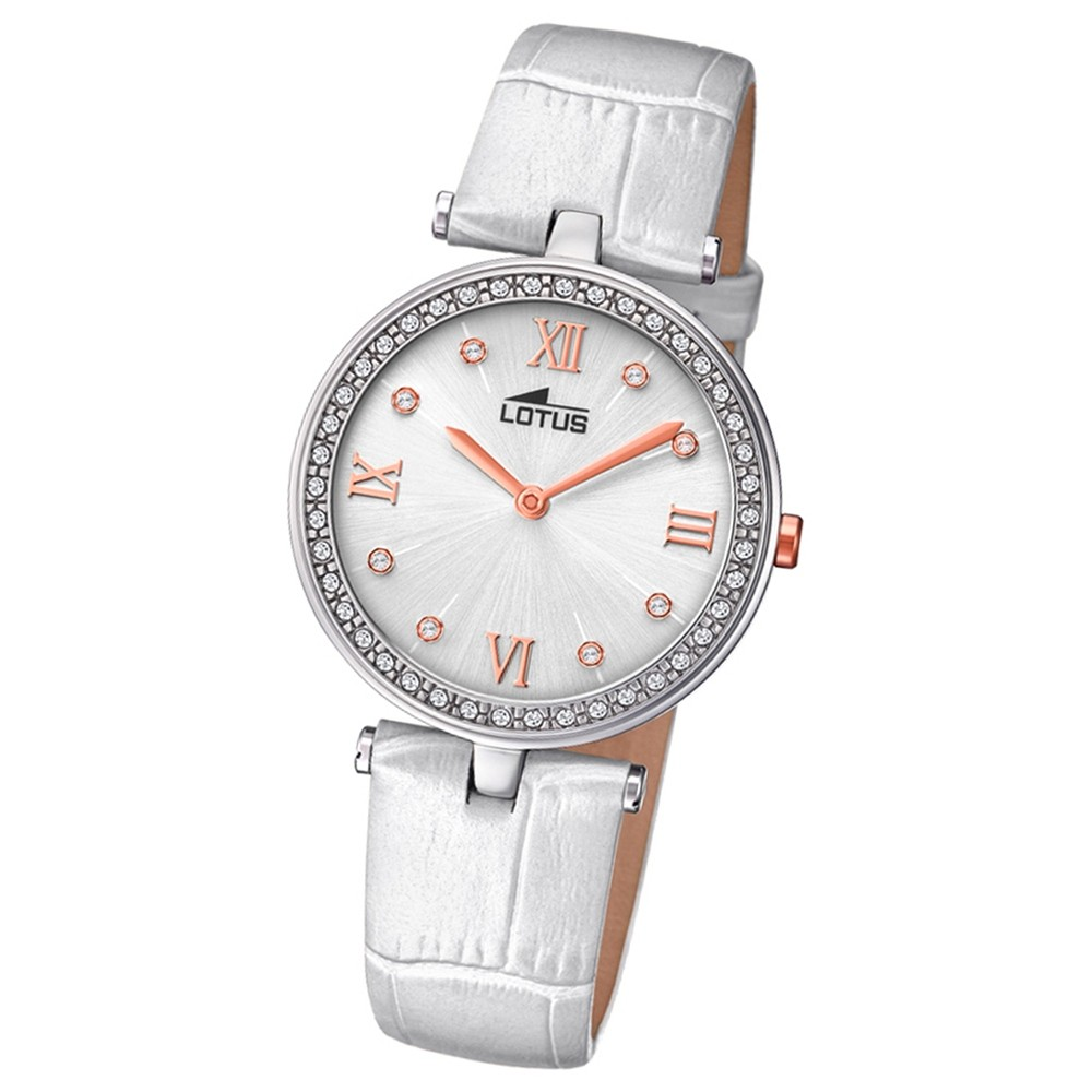 Weiß Armbanduhr Quarz 184621 Damen Lotus Leder Ul184621 Bliss RAc5j4LS3q