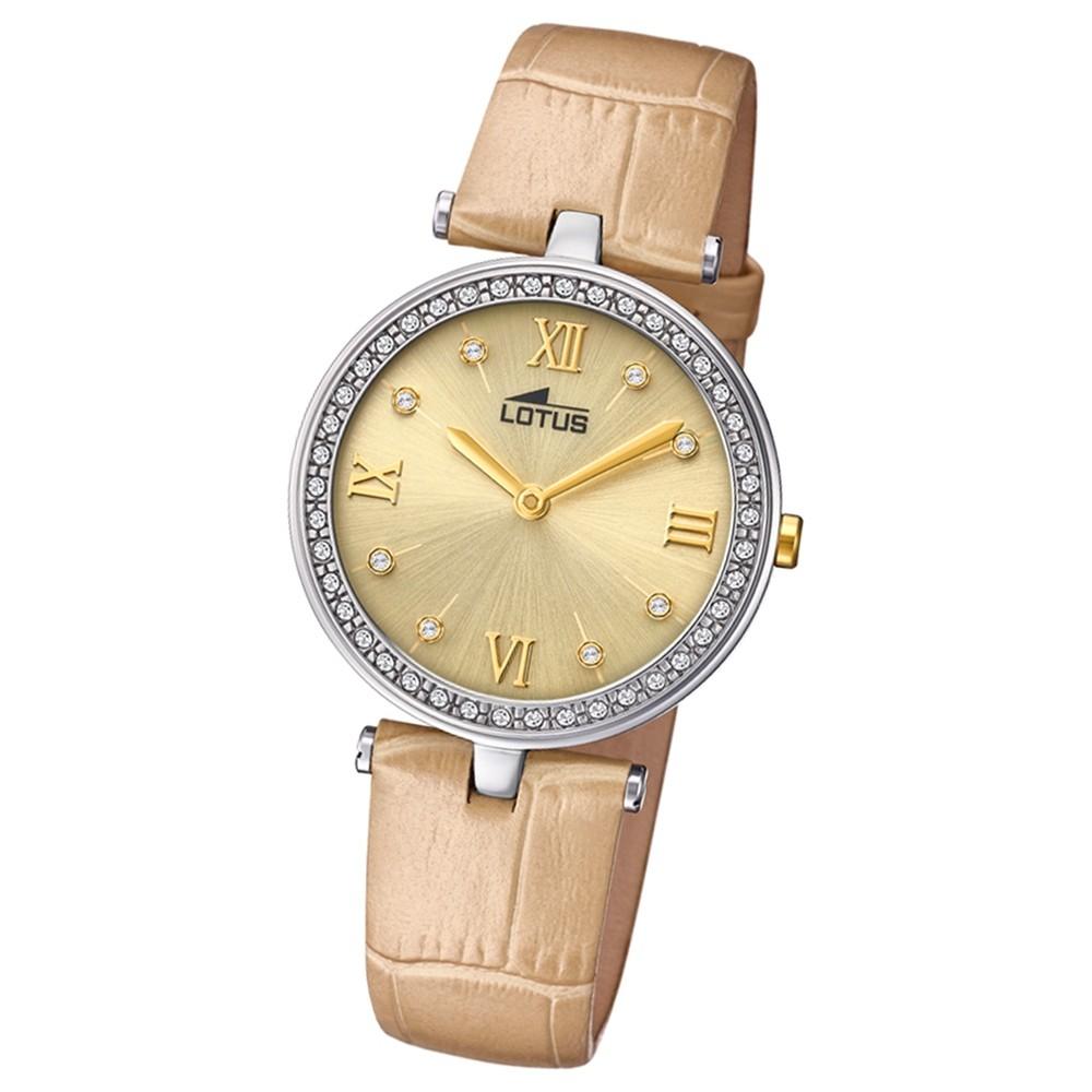 Lotus Damen-Armbanduhr Leder creme hellbraun 18462/2 Quarz Bliss UL18462/2
