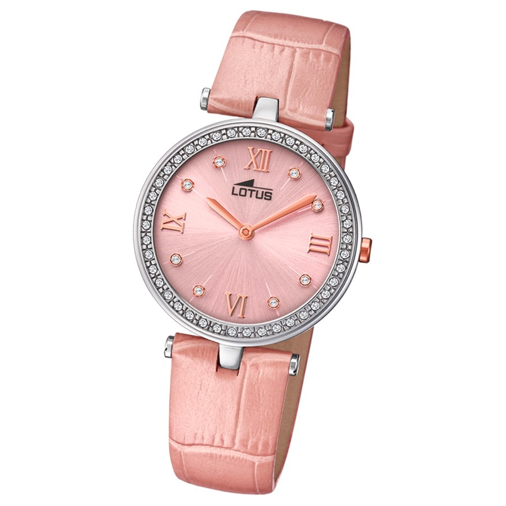 Lotus Damen-Armbanduhr Leder rosa 18462/3 Quarz Bliss UL18462/3