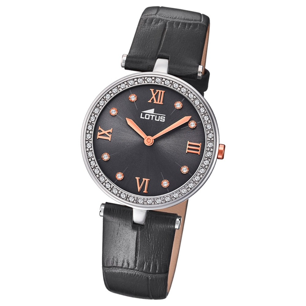 Lotus Damen-Armbanduhr Leder schwarz 18462/4 Quarz Bliss UL18462/4