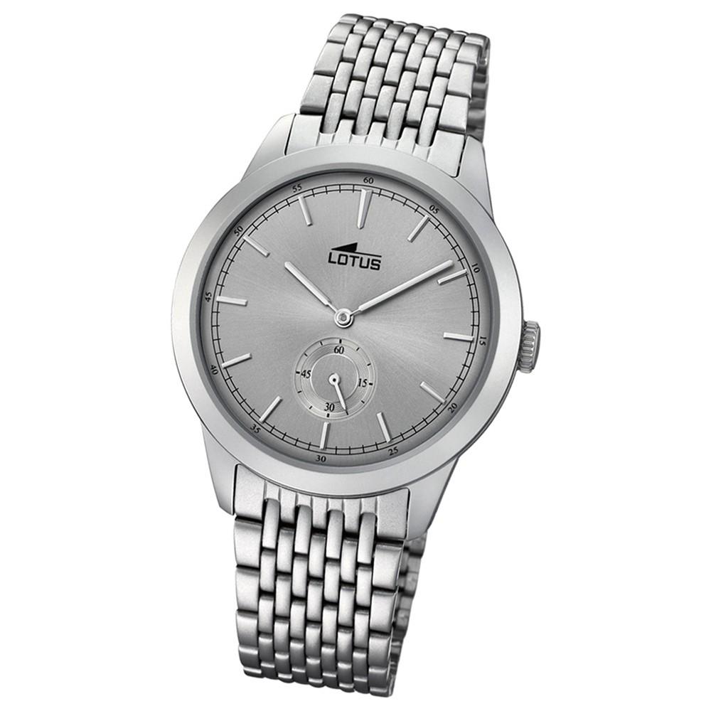 Lotus Herren-Armbanduhr Edelstahl grau 18475/1 Quarz Minimalist UL18475/1
