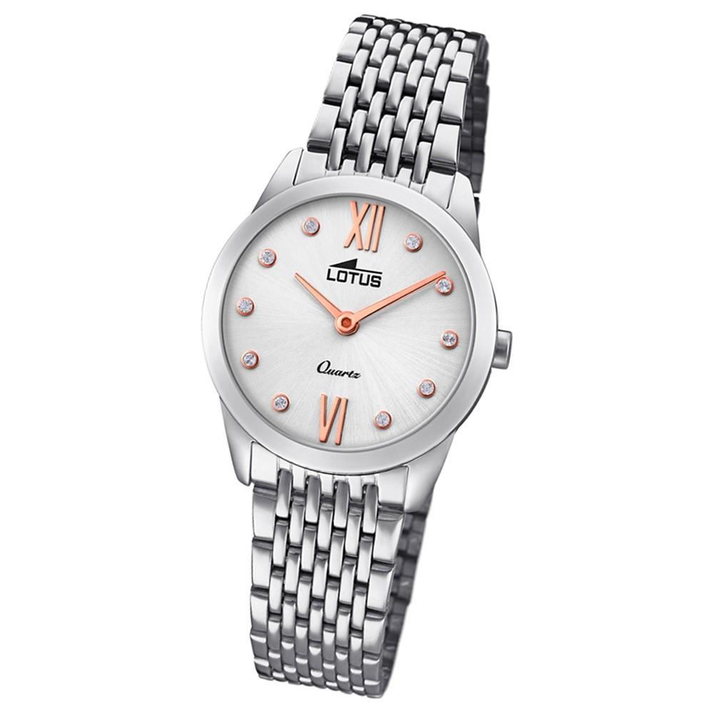 Lotus Damen-Armbanduhr Edelstahl silber 18476/1 Quarz Minimalist UL18476/1