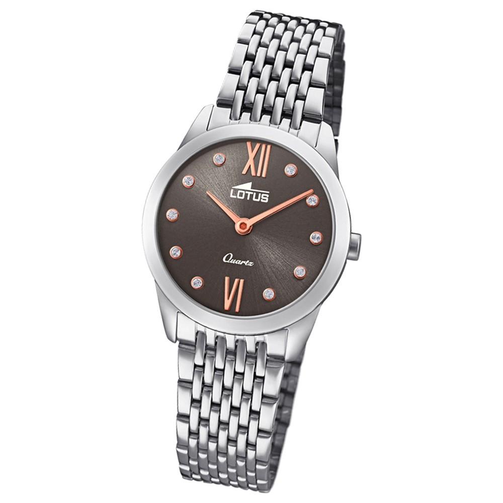 Lotus Damen-Armbanduhr Edelstahl silber 18476/2 Quarz Minimalist UL18476/2