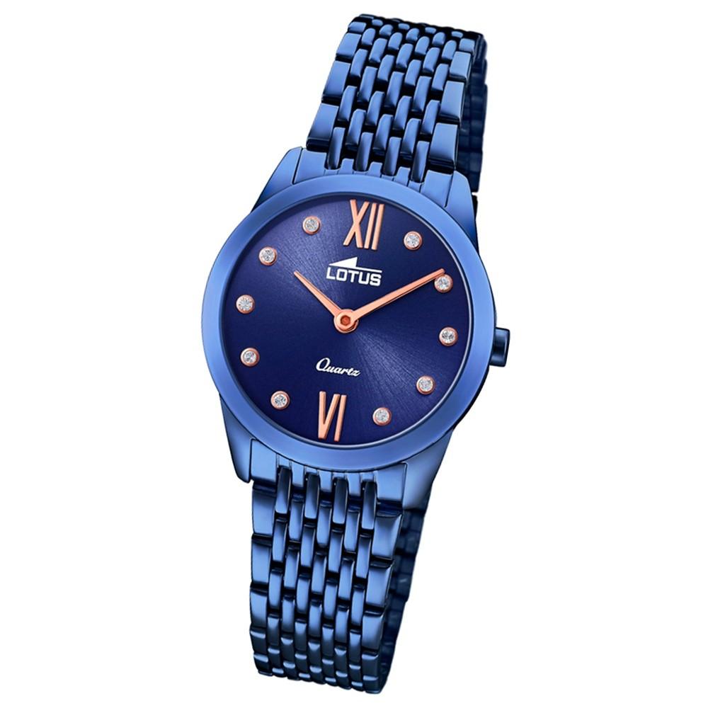 Lotus Damen-Armbanduhr Edelstahl blau 18479/1 Quarz Minimalist UL18479/1