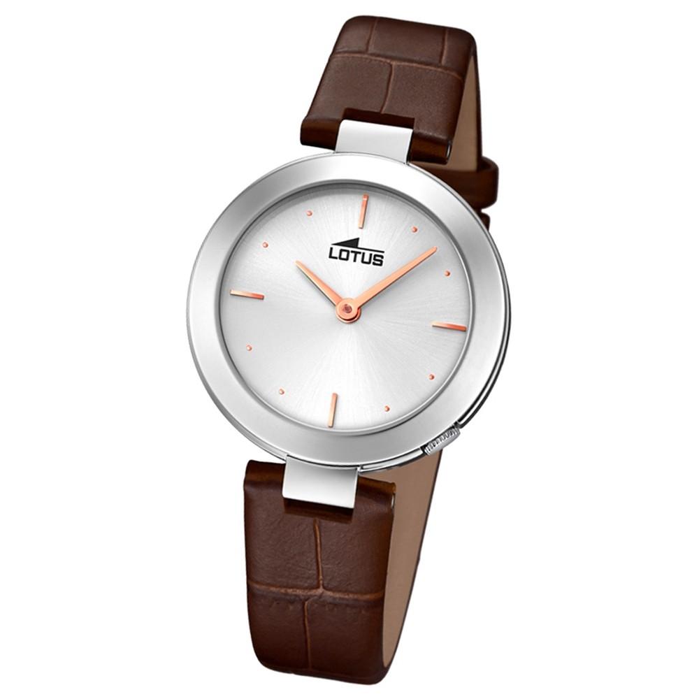 Lotus Damen-Armbanduhr Leder braun 18483/1 Quarz Minimalist UL18483/1