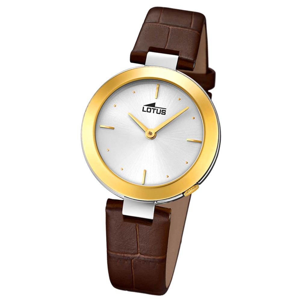 Lotus Damen-Armbanduhr Leder braun 18484/1 Quarz Minimalist UL18484/1