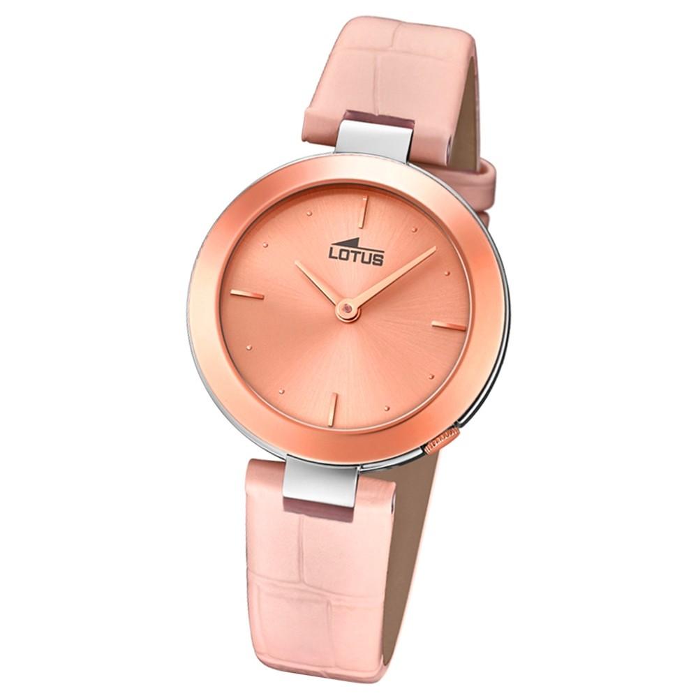 Lotus Damen-Armbanduhr Leder rosa 18485/2 Quarz Minimalist UL18485/2