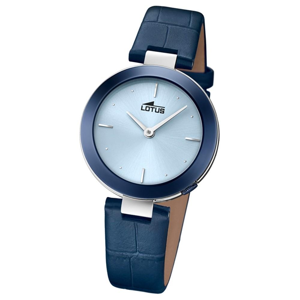 Lotus Damen-Armbanduhr Leder blau 18486/1 Quarz Minimalist UL18486/1