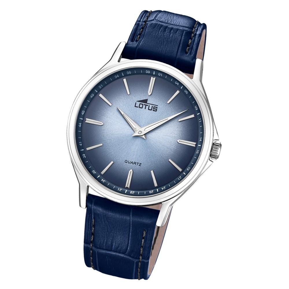 Lotus Herren-Armbanduhr Leder blau 18516/2 Quarz Retro UL18516/2