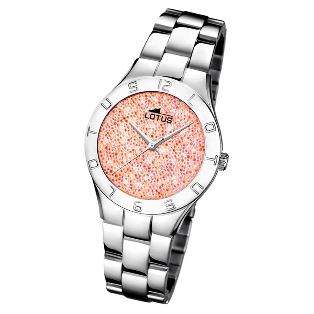 Lotus Damen-Uhr Quarz SWAROVSKI Elements18568/3 Edelstahl silber UL18568/3