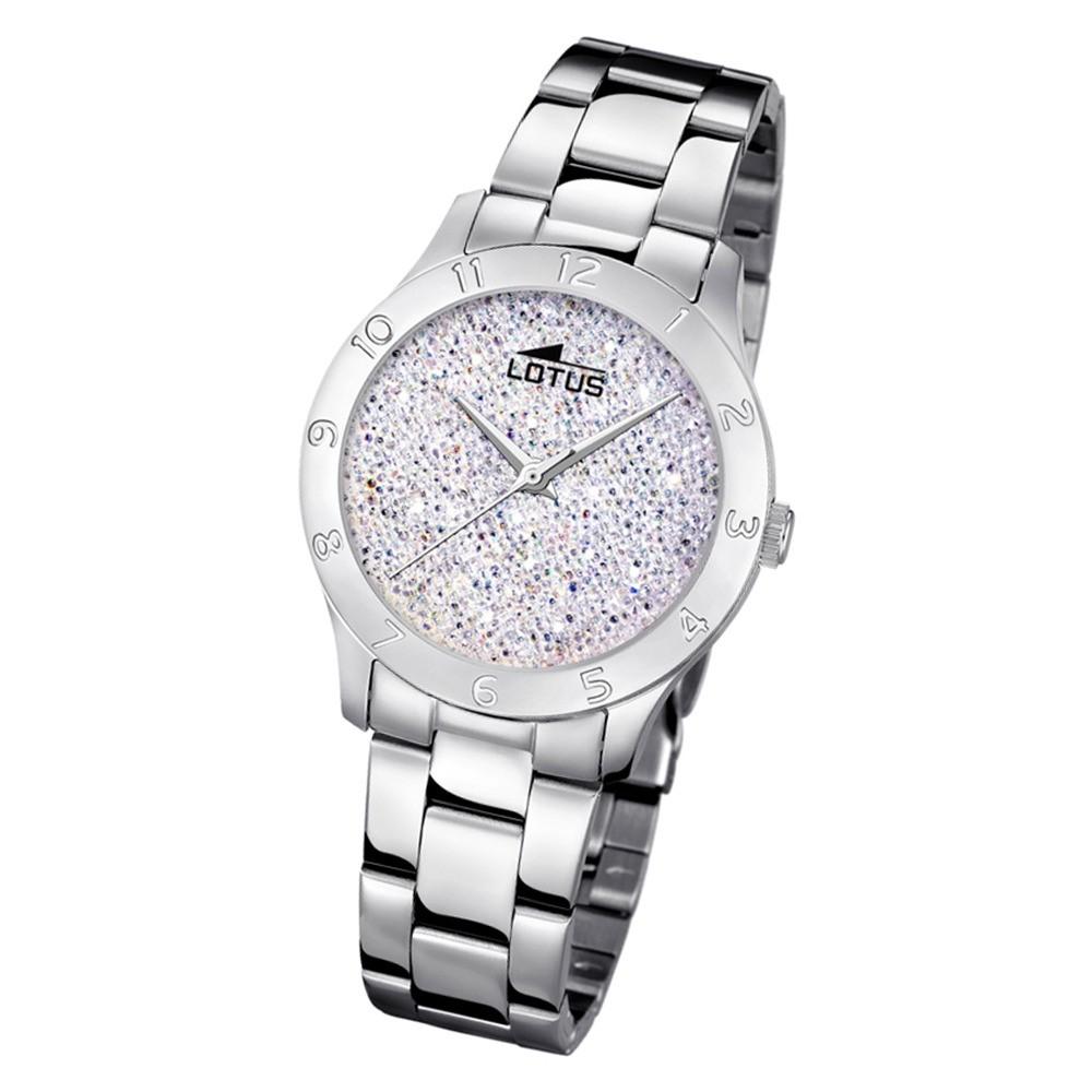 Lotus Damen-Uhr Quarz SWAROVSKI Elements18569/1 Edelstahl silber UL18569/1