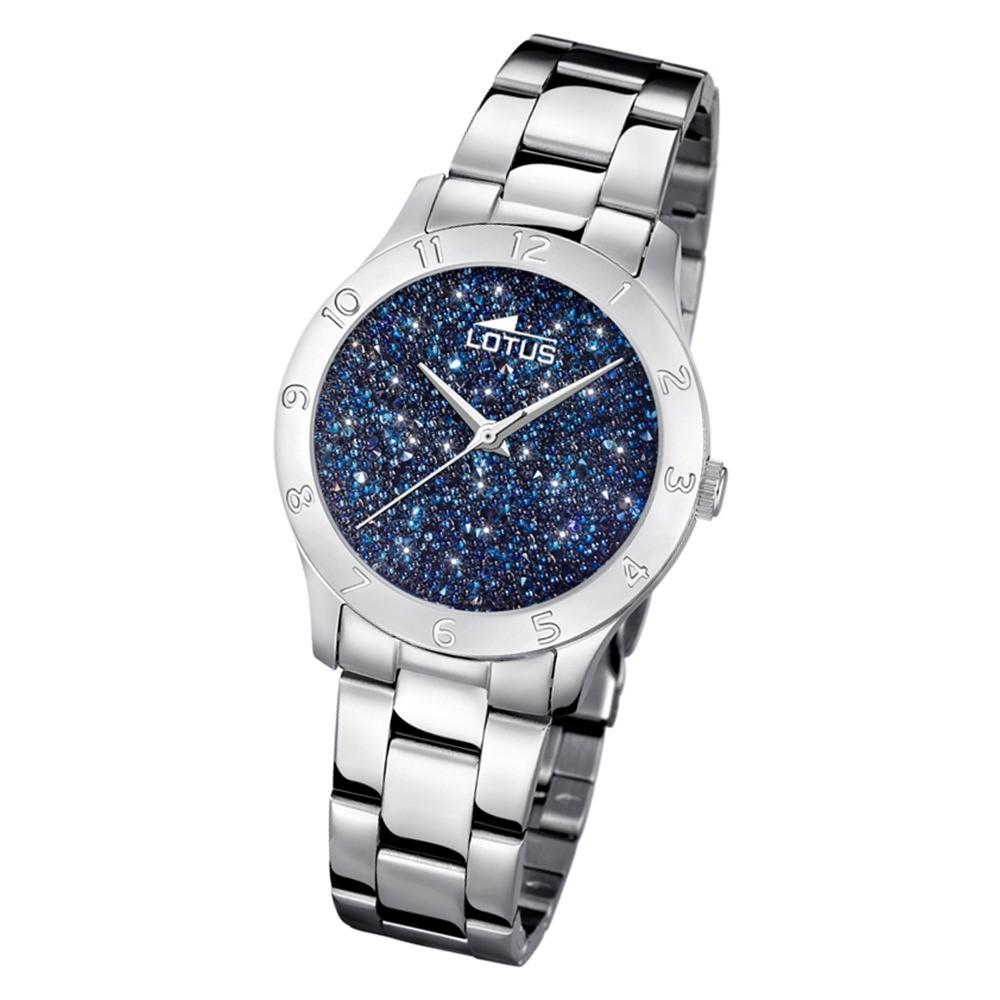 Lotus Damen-Uhr Quarz SWAROVSKI Elements18569/2 Edelstahl silber UL18569/2