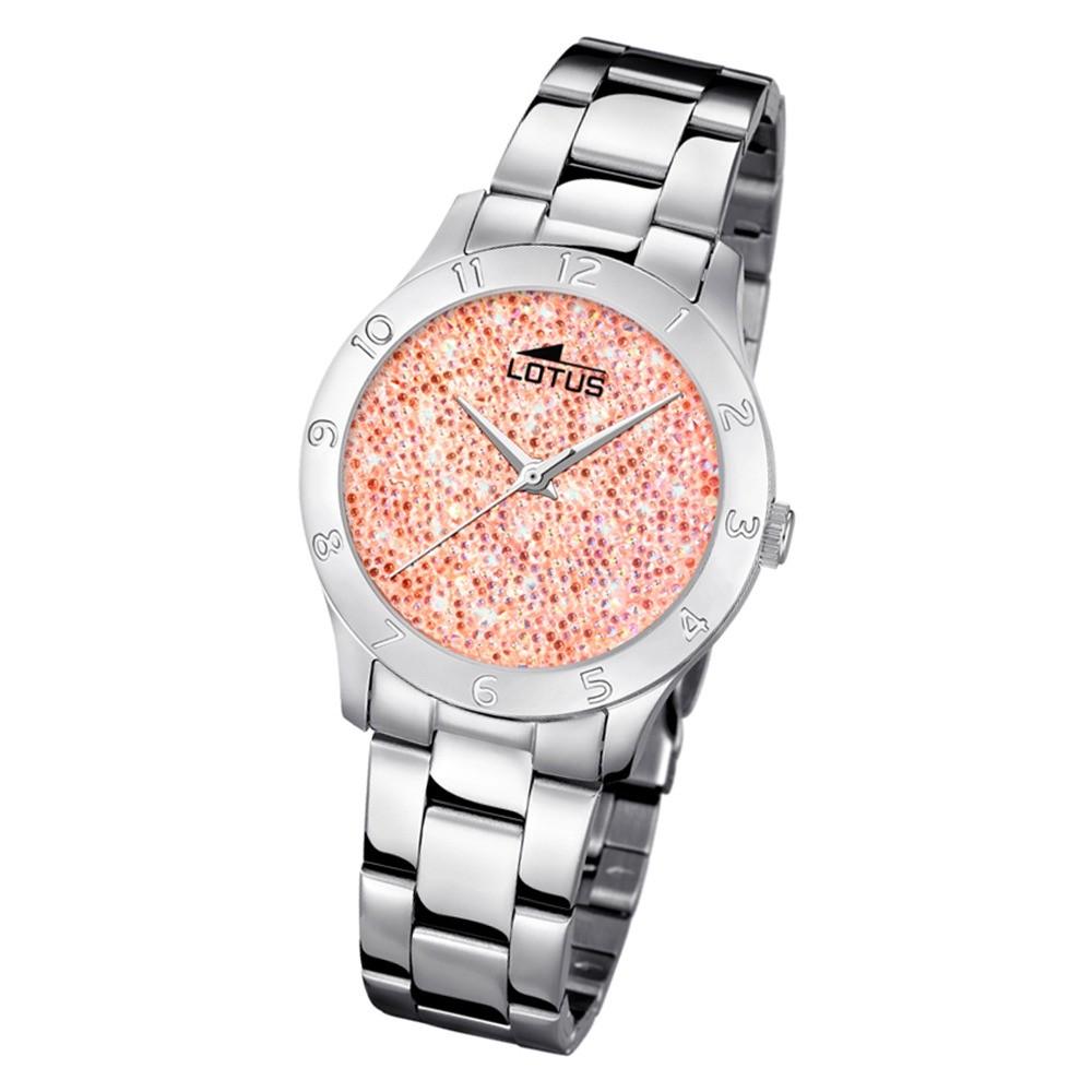 Lotus Damen-Uhr Quarz SWAROVSKI Elements18569/3 Edelstahl silber UL18569/3