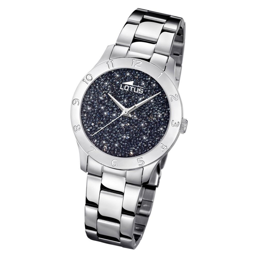 Lotus Damen-Uhr Quarz SWAROVSKI Elements18569/4 Edelstahl silber UL18569/4