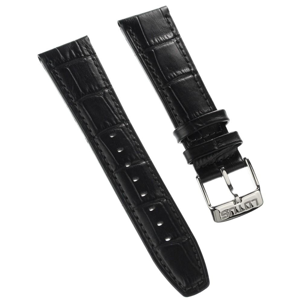Lotus Herren Uhrenarmband 23mm Leder-Band schwarz für Lotus L18223 L18222 ULA18223/S