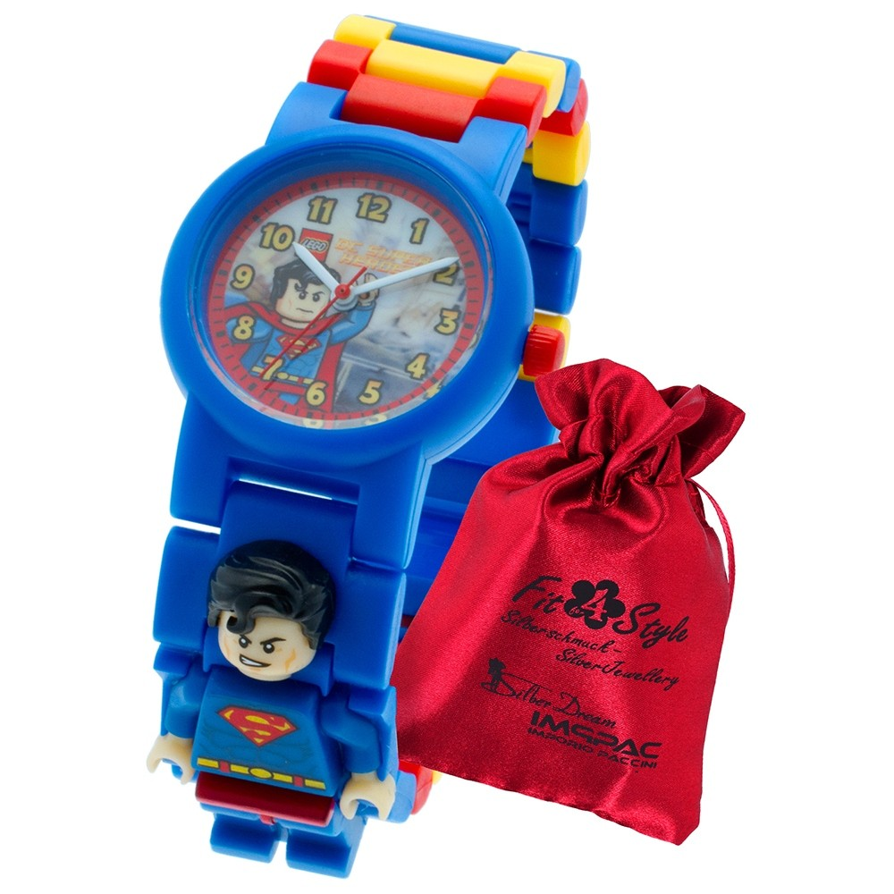LEGO Superman Super Heroes Kinderuhr mit Säckchen 8020257 Quarzuhr ULE8020257