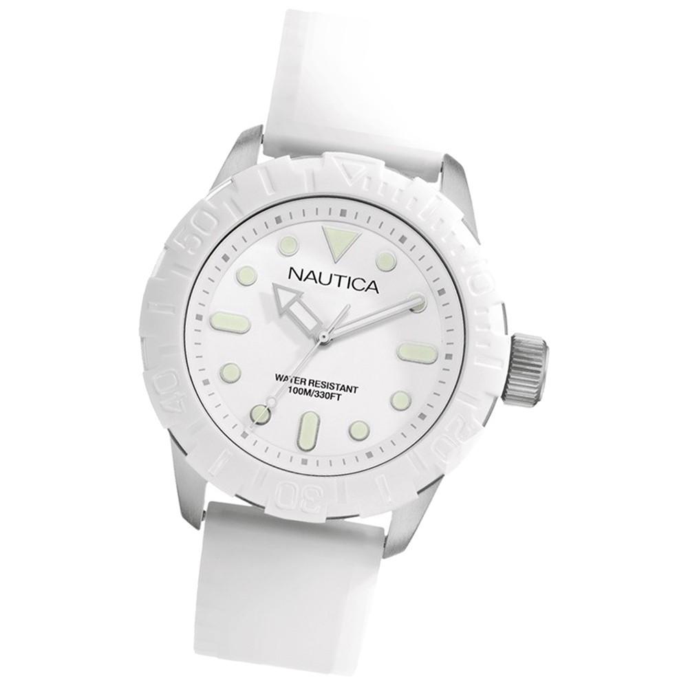 NAUTICA Unisex Armbanduhr weiß A Sea of Color NSR 100 White UNA09603G
