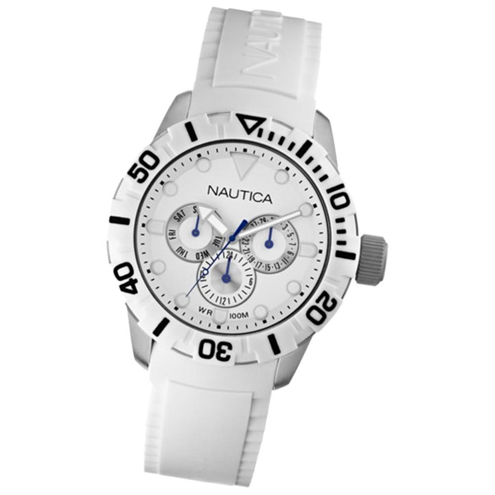 NAUTICA Unisex Armbanduhr Multifunktion weiß 101NSR white UNA13639G