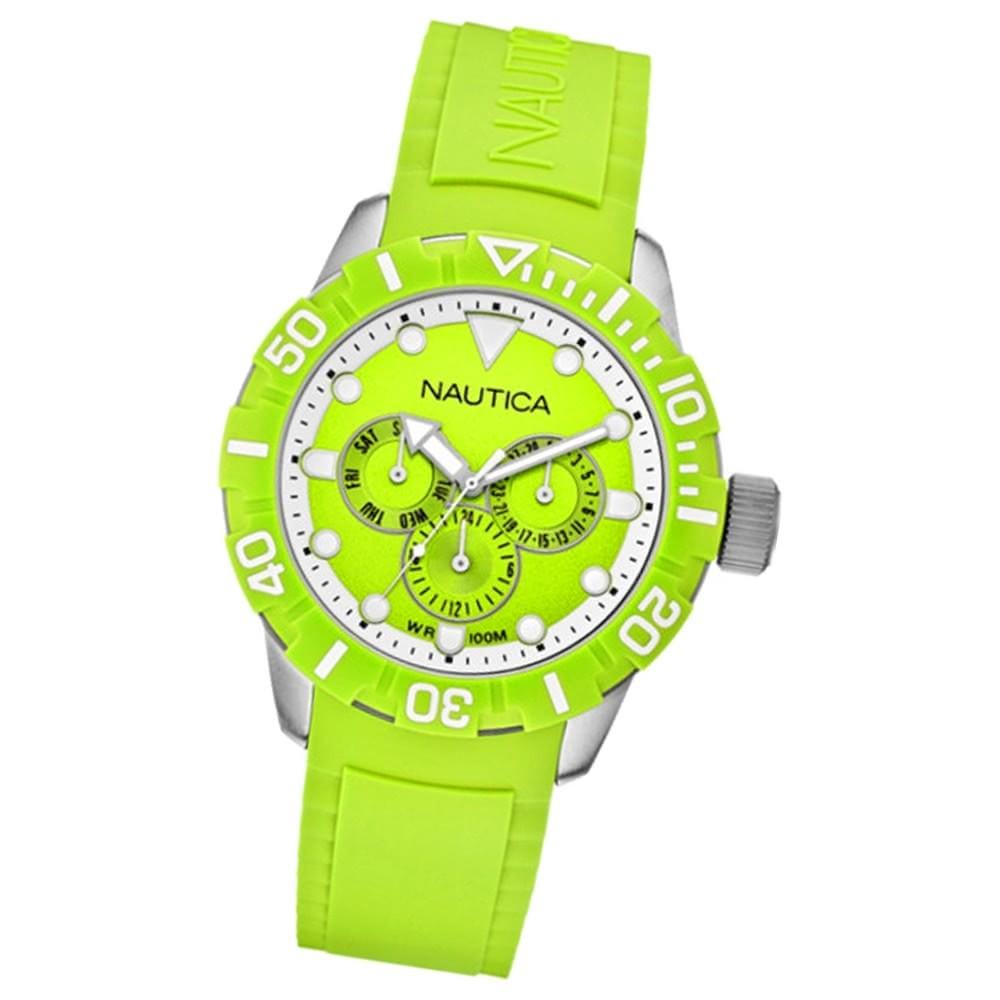 NAUTICA Unisex Armbanduhr Multifunktion grün 101NSR green UNA13640G