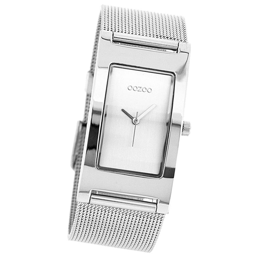 Oozoo Damen-Uhr Timepieces Quarzuhr Metall-Armband silber UOC1995