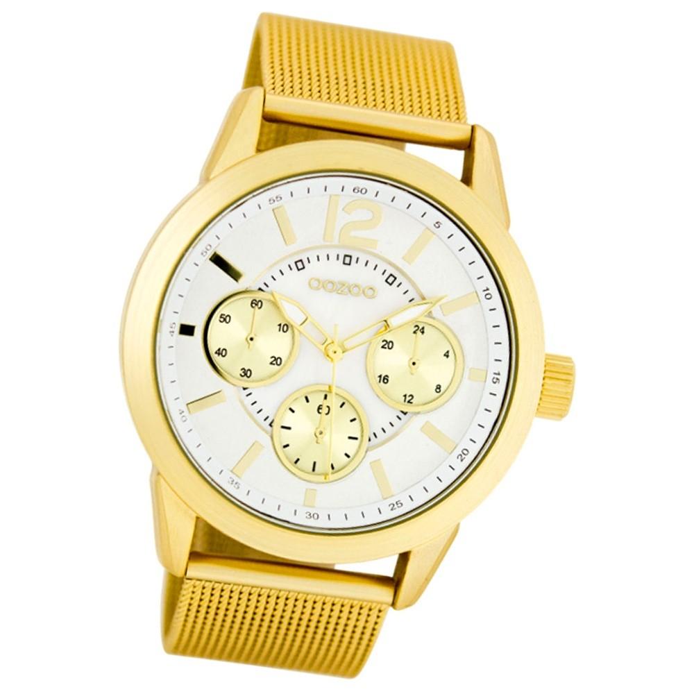 Oozoo Damen-Armbanduhr Mineralglas Quarz Metall gold UOC7632