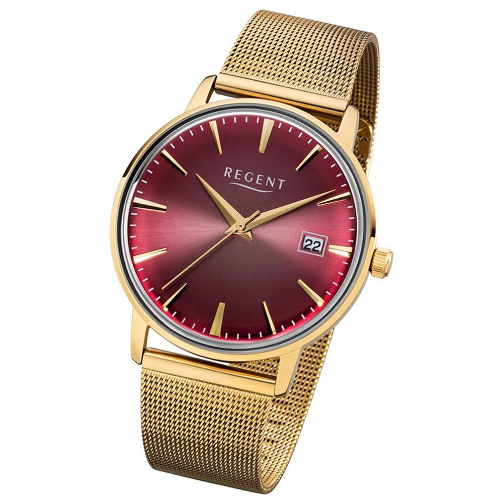 Regent Damen, Herren-Armbanduhr 32-1142481 Quarz-Uhr Edelstahl gold UR1142481