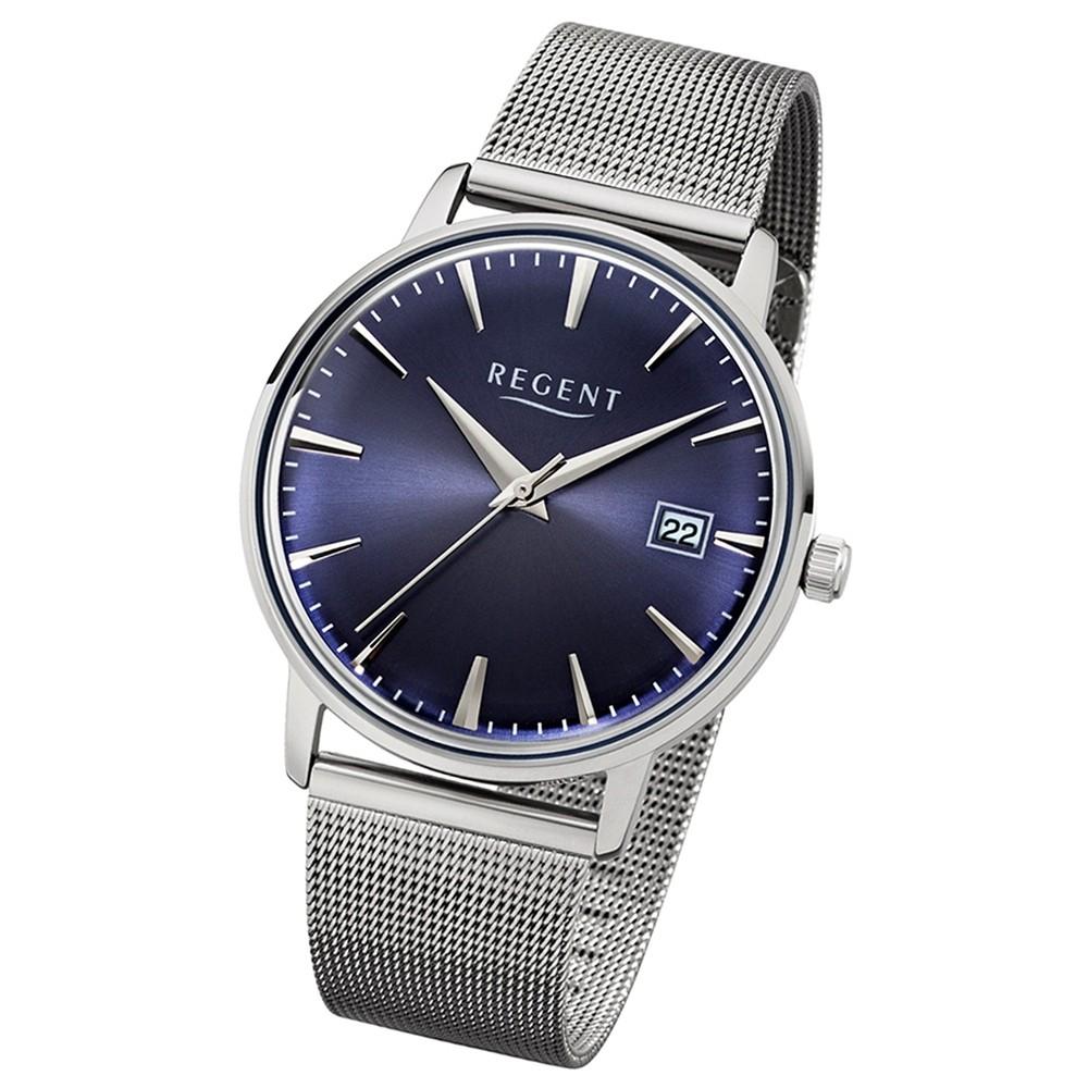 Regent Damen, Herren-Armbanduhr 32-1152477 Quarz-Uhr Edelstahl silber UR1152477