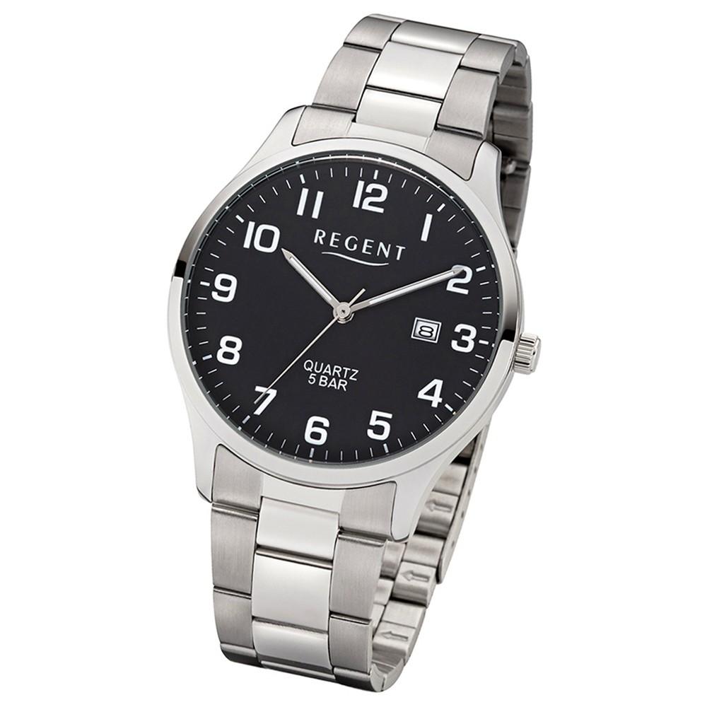 Regent Herren-Armbanduhr 32-1153402 Quarz-Uhr Edelstahl-Armband silber UR1153402