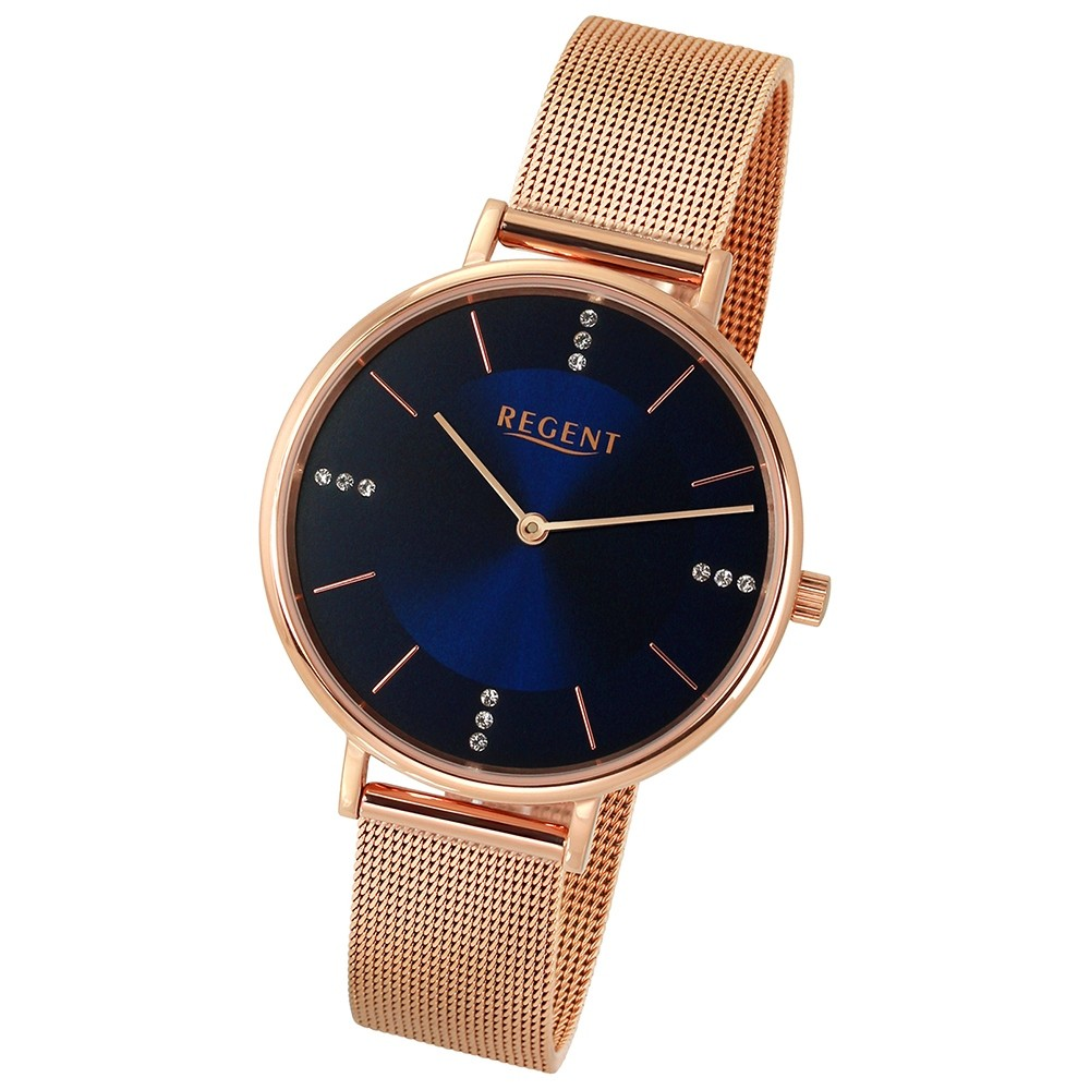 Regent Damen-Armbanduhr 32-2213138 Quarz-Uhr Edelstahl rosegold Uhr UR2213138