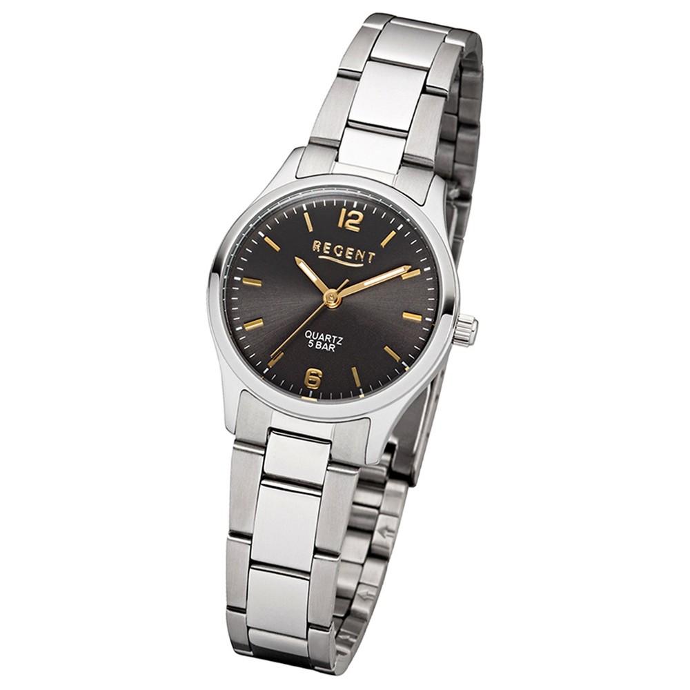 Regent Damen-Armbanduhr 32-2253411 Quarz-Uhr Edelstahl-Armband silber UR2253411