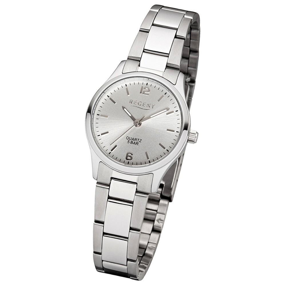 Regent Damen-Armbanduhr 32-2253413 Quarz-Uhr Edelstahl-Armband silber UR2253413